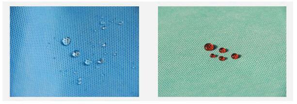 特殊处理无纺布  奥特隆有先进的无纺布后处理设备以及无与邻比的处理工艺,可对无纺布进行各种特殊的处理,以满足客户对无纺布的各种特殊性能的要求。     三抗处理: 处理后的无纺布具有抗酒精、抗血、抗油功能,主要应用于医用手术衣、手术铺单。 SMMMS nonwoven with repellency treatment   三抗处理的SMS无纺布的性能: Properties of SMS Nonwoven with Repellency treatment   抗静电处理: 抗静电无纺布主要应用于对静电有特殊环境要求的防护用品的材料。 吸水处理: 吸水无纺布主要应用于医疗耗材的生产,如手术洞巾,手术垫单等。 阻燃处理: 阻燃无纺布广泛应用于家具产品和航空用品,我们的产品已通过英国标准BS5852的测试, Schedule 4 Part I & Part II 和 Scheldule 5 Part I & Part III. 抗菌防臭和光触媒效果处理: 此类无纺布主要应用于家居用品的领域。 抗紫外线处理: 抗紫外线,抗老化无纺布主要应用于农业覆盖布,汽车罩等面料,要求有防晒,抗老化作用的场合。 芳香剂处理: 香味无纺布应用于卫生用品(有薄荷味、柠檬味、薰衣草味等)。